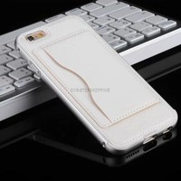 For Apple iPhone 6 6s plus Luxury LEATHER Back Case metal Aluminum Bumper Cover