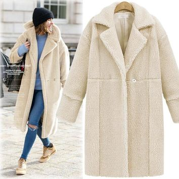 Cashmere Coat Women's Fashion Long Sleeve Jacket [178783748122]