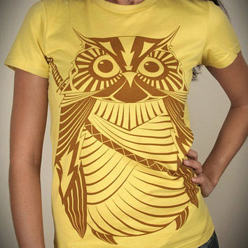 Samurai Owl Organic Cotton Womens t shirt by EngramClothing