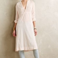 SHEER GAUZE TUNIC by Anthropologie Peach