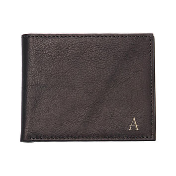 Personalized Brown Bi-Fold Wallet with Multi-function Tool