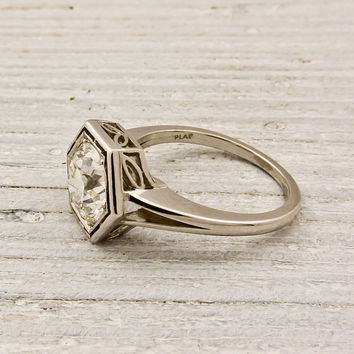 175 carat Old European Cut Diamond Engagement by ErstwhileJewelry
