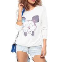 Galaxy Mickey Crew Neck Sweater