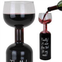 Full Bottle Wine Glass