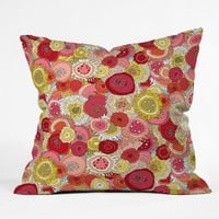 Sharon Turner Coral Garden Outdoor Throw Pillow