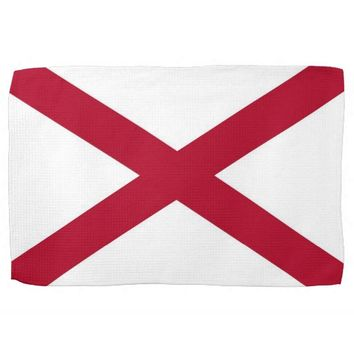 Kitchen towel with Flag of Alabama, U.S.A.