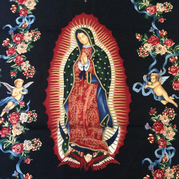 Virgin of Guadalupe Fabric - Alexander Henry 2003