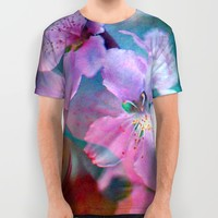 Double Flowers All Over Print Shirt by Stephen Linhart