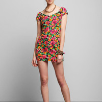 Urban Outfitters - Vintage '80s Floral Knit Dress