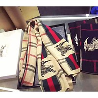 Burberry Fashion Women Men Easy to match Cotton Scarf