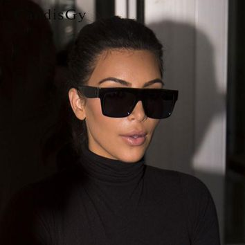 Luxury Brand Designer Kim Kardashian Fat Top Sunglasses Women Retro Shades CL Sun Glasses for Men Gafas Oculos De Sol Feminino