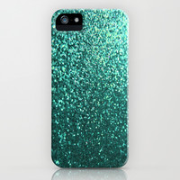 Teal Aqua Glitter Sparkle iPhone & iPod Case by xjen94