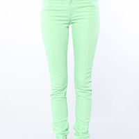 Cheap Monday The Tight Fit Skinny Jean in Kiwi Green