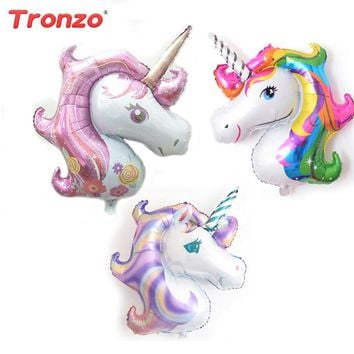 1 Pcs Birthday Party Decorations kids Foil Balloons Unicorn Balloon Party Supplies Wedding Baby Shower Decor Rainbow 2018 New