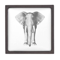 Elephant in Black and White Premium Gift Box