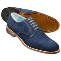 Blue suede Millbank Derby shoes | Men's casual shoes from Charles Tyrwhitt | CTShirts.com