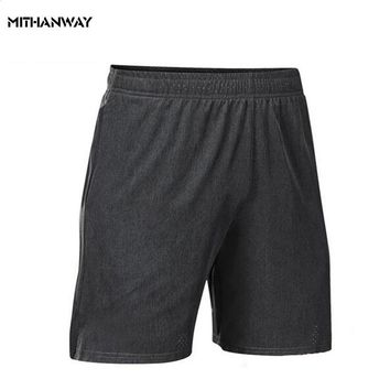 Men Gym Short Quick Dry Running Workout Fitness Bodybuilding Mesh Male Short Pants Calf-Length Jogger Sweatpants