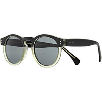 Black Komono two tone round sunglasses