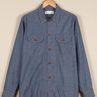 Universal Works Overshirt in Indigo Chambray | Universal Works