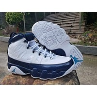 Air Jordan 9 Retro AJ9 White/Navy