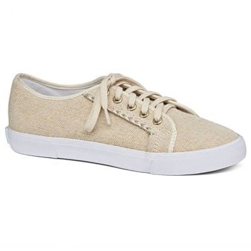 Carter Textile Sneaker in Platinum Linen by Jack Rogers