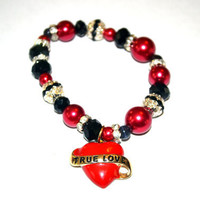Red Hot Love Charm Bracelet