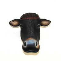 The Mache Cow | Cow Head | Faux Taxidermy | Paper Mache Animal Heads