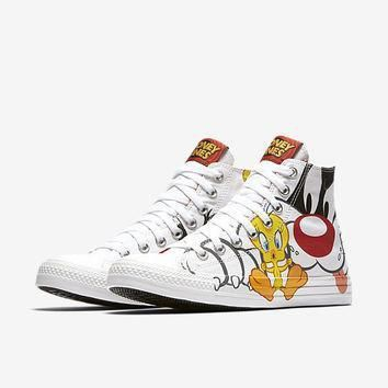 the converse chuck taylor all star sylvester tweety high top unisex shoe