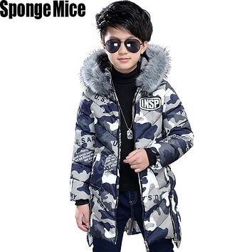 Fashion Children's Down Jackets coat winter fur Big boy Coat thick duck Down feather jacket Outerwear cold winter z707