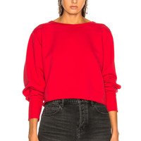 rag & bone/JEAN Cropped Pullover Sweater in Bull Red | FWRD