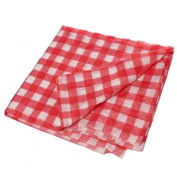 Rectangle Table Cloth Red Grid High Quality Table Cloth Tea Table Cloth Kitchen Tablecloth And Multipurpose Cloth