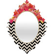 Bianca Green Chevron Flora 1 Baroque Mirror