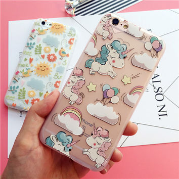 Lovely unicorn relief mobile phone case for iPhone 6 6s 6plus 6s plus + Nice gift box!