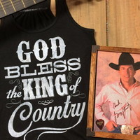 God Bless The King Of Country Tank