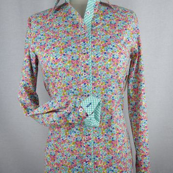 CR Tradition Sweet Pastel Floral Western Shirt