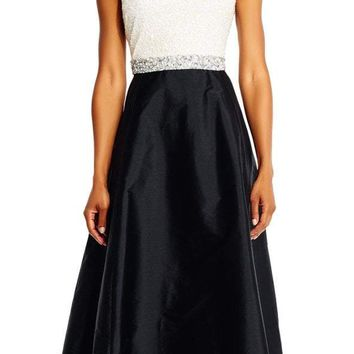 Adrianna Papell - Two Toned Embellished Gown AP1E201225