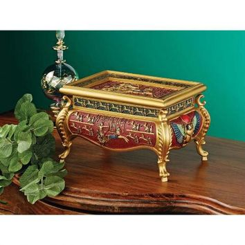 The Pharaoh's Chariot Treasure Box - QL14575 - Design Toscano