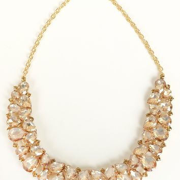 Scoop Stone Necklace Yellow gold
