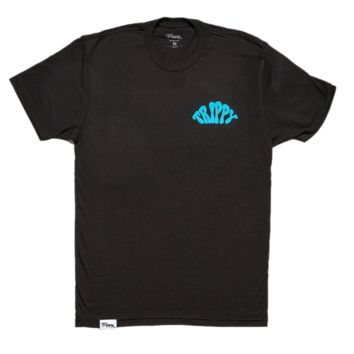 Men's T-Shirt - Teal on Black