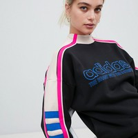 adidas Originals Aa-42 Motorcross High Neck Sweatshirt In Black at asos.com