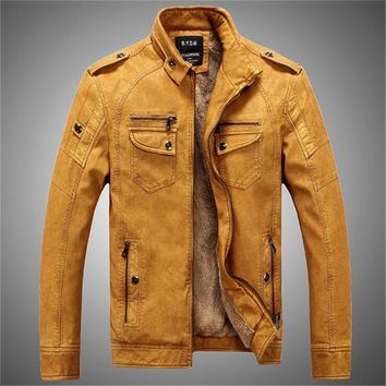 8feb0c53ca2a1 New Arrival Men Leather Jackets PU Leather Jaqueta Masculinas In. Gender  Men  Outerwear ...