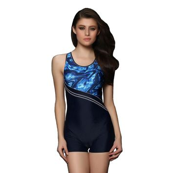 Professional Bodysuit Swimsuit Women Sport Swimwear Push up Bathing Suit Boyshorts Beach L-3XL
