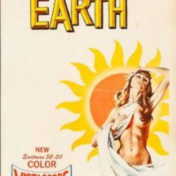 "The Last Woman On Earth Poster Movie Poster Insert 14""X36"""