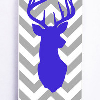 Cute Reindeer With Simple Chevron for Iphone 5 / 5s Hard Cover Plastic
