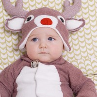 Rudolf Reindeer Christmas Hat Only  BABY to ADULT by LilCreatures