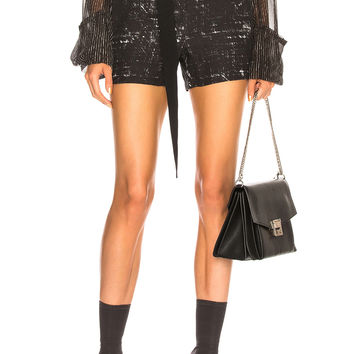 Ann Demeulemeester Paperbag Waist Shorts in Black & Off White | FWRD