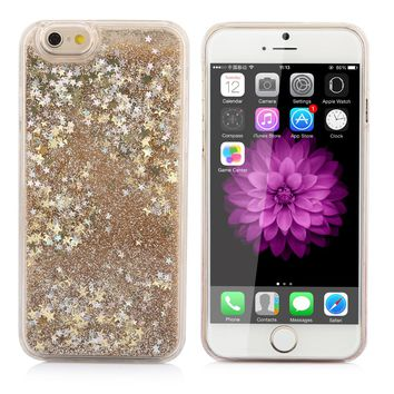 LOVECOM Glitter Bling Colorful Dynamic Quicksand Star Liquid Hard Back Cover Clear case For iPhone 4 4S 5 5S SE 5C 6 6S 7 Plus