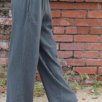 Basic Pant - Graphite by Oh My Gauze!