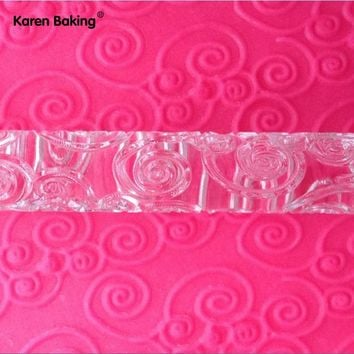 Beautiful Design Embossing Rolling Pins Sugar Craft tools Fondant Cake Decoration--A161