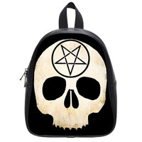 Pentacle or Pentagram skull back pack